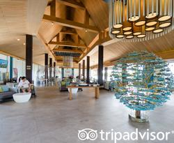 Lobby at the Splash Beach Resort by Langham Hospitality Group