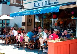 Our sunny outdoor patio located in the heart of the Castro District.