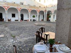 Dinner in the cloister