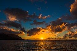 Sunsets on Kauai are some of the best in the world! . . . #LetHawaiiHappen #KauaiDiscovery #TravelPono #HoloHoloPono #SayYesToAdventure #GoHoloHolo
