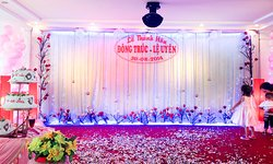Wedding Event Hall - our stage set up.