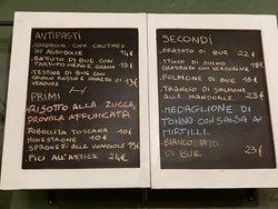 menu aggiuntivo