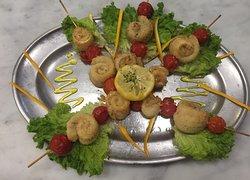 Spiedini di branzino (chef's specialty)