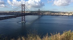 Bridge 25th of April from Cristo the King