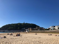 End of the day in San Sebastian.