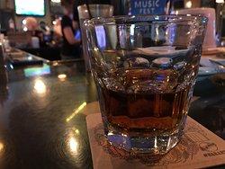 Very generous pour--a double Jack neat