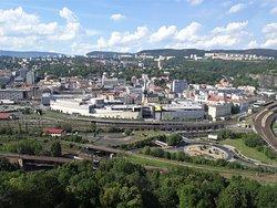 Výhled na centrum Ústí z Větruše