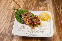 Chopped Veal with Mashed Eggplants/Садж с Баклажанным Пюре #Ottoman House Cafe Menu