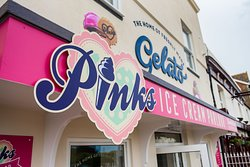 Our funky new signage for Pinks Parlour