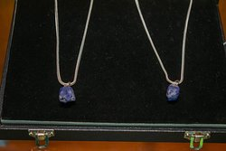 Tanzanite rough pendents set in 925 sterling silver