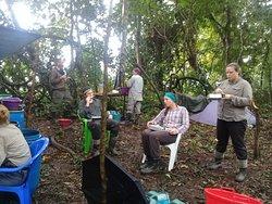 desayunos en la selva al interior de la reserva Pacaya Samiria