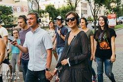Голос города - смесь прогулки, спектакля, флешмоба и экскурсии.