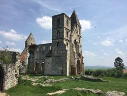 Zsambek Premontre monastery church ruin