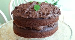 #glennthebaker  his very own chocolate and mint cake. This never lasts long!