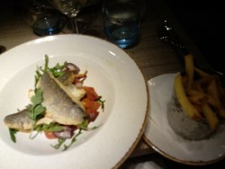 very tasty seabass, didn't look a lot on the plate but there was plenty