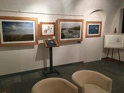 Une salle dédiée aux images prises au parc national du Grand-Paradis (Vallée d'Aoste)