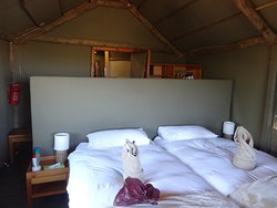 My bed at Surigate Tented Lodge