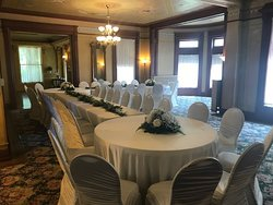 Clubroom of Mansion set for an event