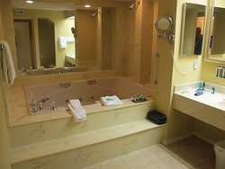 Large Jacuzzi tub and shower