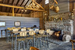 Fire side dining at Huntington House Tavern