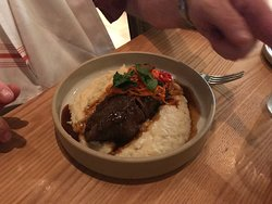 meat with grits