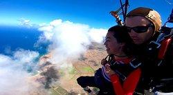 Enjoying the aerial view of Kauai, thanks to Damien!