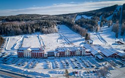 Romme Alpin Ski Lodge med Nybörjarområde.