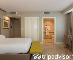 The Double Bed Studio Partial Ocean View at the Hilton Bentley Miami/South Beach
