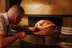 Our beautiful Stefano Ferrara wood-fired oven...