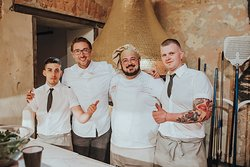 Talented team of professional pizzaiolos...
