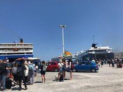 Ferry station in Paros