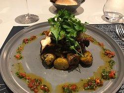 Le poulpe pommes de terre grenailles
