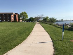 Ice Age Scenic Trail passes between the hotel and Lake Michigan