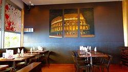 Pizza & Pasta, interior and non-smoking section.