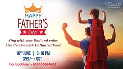 Karaoke Again !!  Fathers Day is on the go. Lets Delight your Dad, Because he deserves all the happiness !  Bring in your Fathers & Grandfathers here , Sing along with him & Enjoy Unlimited Mocktails, Starters , Main Course & Desserts with Live Cricket fever !! Do not miss this time .  Book now :- 8094008346/ 8094008357  #fathersday #fathersdaycelebration #love #music #karaokenights #fun #happiness #foodie #foodporn #laughter #surprises #family #kasturiorchid #jodhpur