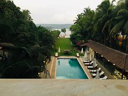 The view from the room balcony