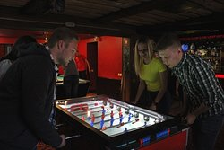 Besides casino we`ll entertain you with pool tables, darts, boxing game, board games, laughter and a lot of high fives!