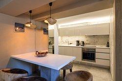 Villa Myrthia - kitchen and dining area