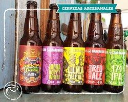 Variedad de cervezas artesanales Barbarian.