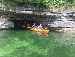 Cave Point kayak tours.  Join us and visit Cave Point County Park, the Caves, and Whitefish Dunes State Park!