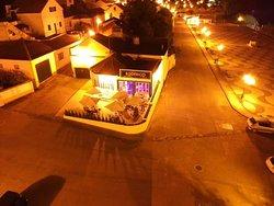 Vista aérea do Lounge a noite