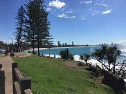 Beautiful View when walking the Burleigh Esplanade