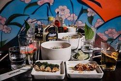 Renkon food and sake
