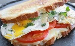 Cheese and Eggs Sandwich