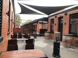 Enjoy a drink or watch a game in our beer garden