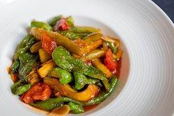 虎皮辣子烧茄子  Wok fried green pepper & eggplant
