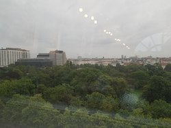 view of Stadtpark from the M Lounge