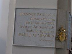 targa per visita Papa Giovanni Paolo II nel 2002
