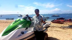 At  Tanjung benoa - Nusa Dua - Bali , a place for water sport activity.