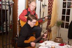 Petite soirée guitares avec les clients